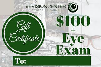 gift certificate 100eyeexam