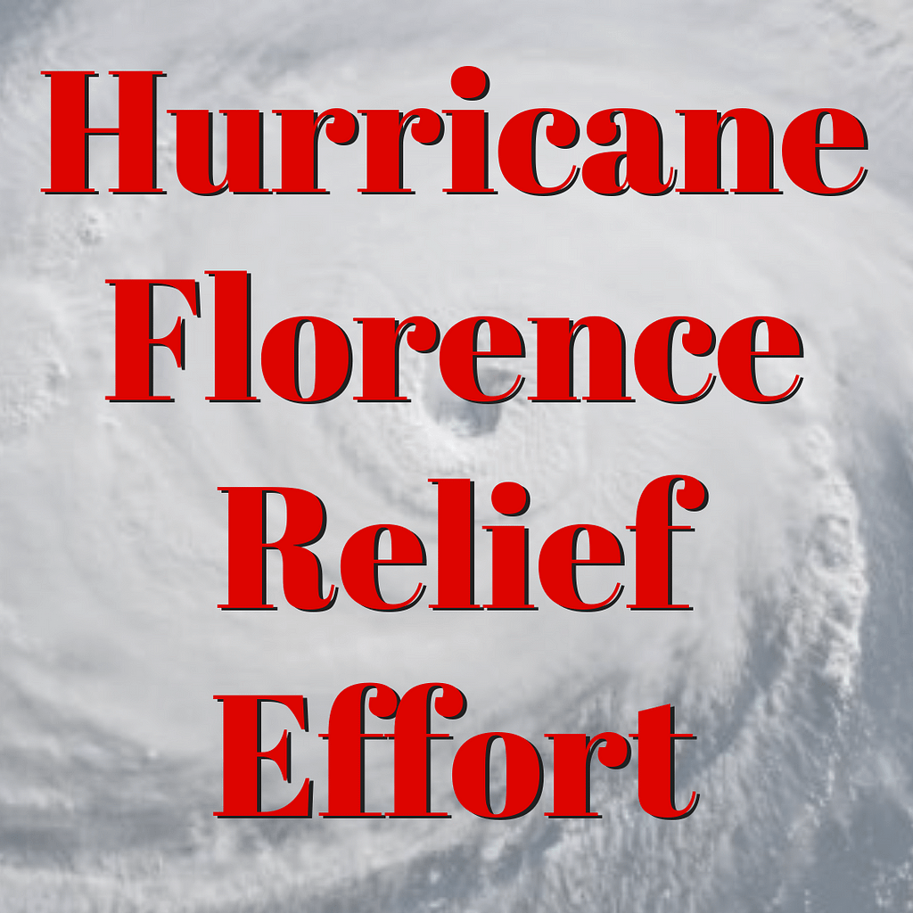 HurricaneFlorenceRelief Effort