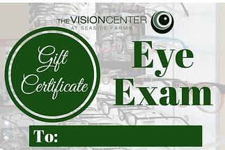 gift certificate eye exam